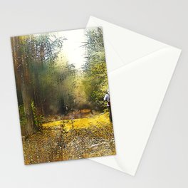 walk in the forest Stationery Cards