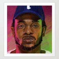 kendrick lamar Art Prints featuring Kendrick Lamar by Danielle Singer