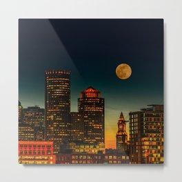 Boston Pink  Moon Metal Print