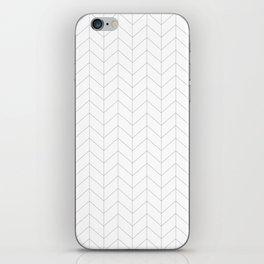 Herringbone Black and White iPhone Skin