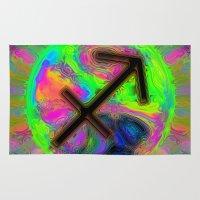 sagittarius Area & Throw Rugs featuring Sagittarius by Synesthetic