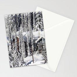 Winter Retreat - Mountain Resort Stationery Cards