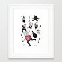 allyson johnson Framed Art Prints featuring Minis Johnson by Franck Chartron