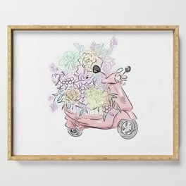Flowers art Flower Art Print Flower Posters Wall Decor Floral Home Decor Wall Art Gift set for Girlf Serving Tray
