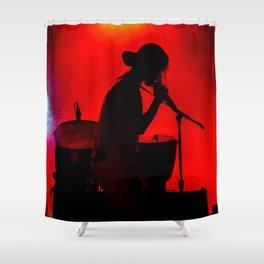 Rock Concert Silhouette Shower Curtain