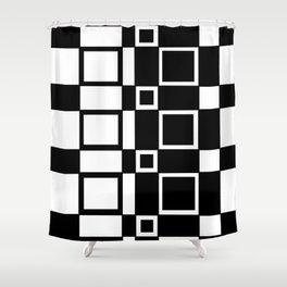 Chic Checkerboard Shower Curtain
