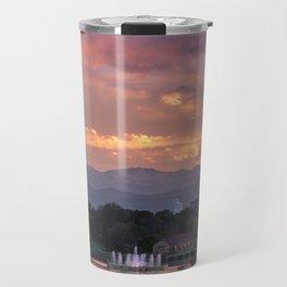 Mount Evans Sunset Travel Mug