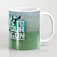 how to train your dragon Mugs featuring HOW TO TRAIN YOUR DRAGON - Fantasy | Animation | Movie | Fantastic | Childer | Sci-fi by Gianluca Lucchese