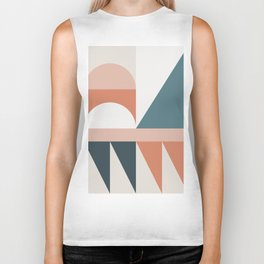 Cirque 03 Abstract Geometric Biker Tank