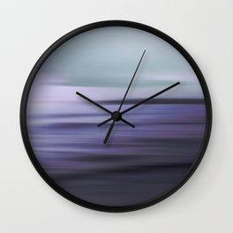 Dreamscape VI. blue-aqua Wall Clock