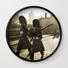 England - Tower of London Guards Wall Clock