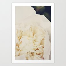 Champagne Floral Fauna  Art Print