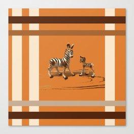 Butterscotch Stripes Canvas Print