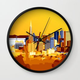 San Francisco on a sunny day Wall Clock