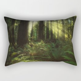 Basking in the Glory of the Redwoods  Rectangular Pillow