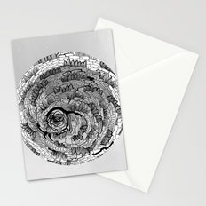 there is something in grey Stationery Cards