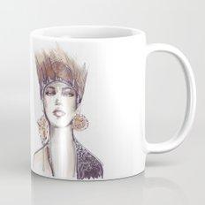 Punk fashion illustration  Mug