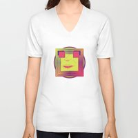 psychedelic V-neck T-shirts featuring Psychedelic by Zafer DEĞERLİ