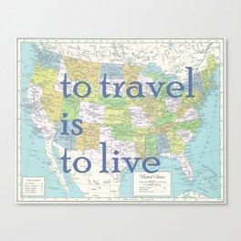 Travel United States of America Canvas Print