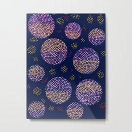 Joyful Christmas Night Pattern Decoration Metal Print