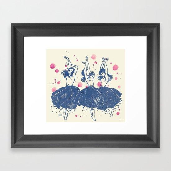 Dancing Poppies Framed Art Print