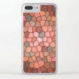 Terracotta Mosaic Clear iPhone Case