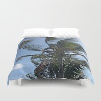 indonesia Duvet Covers featuring Palm (Bali, Indonesia) by Christian Haberäcker - acryl abstract