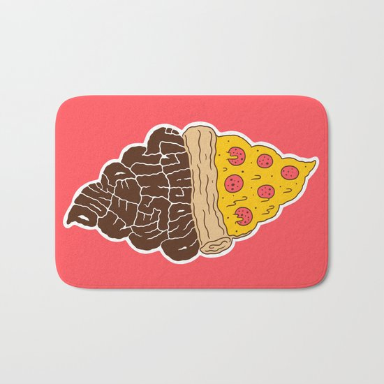 Don't Feed Me Shit and Call it Pizza Bath Mat