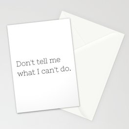 Don't tell me what I can't do - Lost - TV Show Collection Stationery Cards