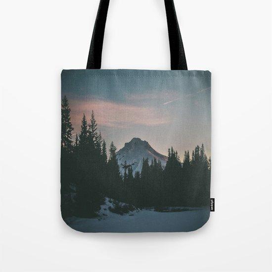 Frozen Mirror Lake Tote Bag