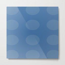 Blue Ovals Metal Print