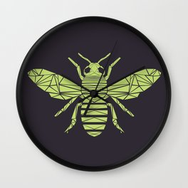 The Bee is not envious - Geometric insect design Wall Clock