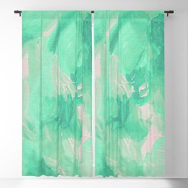 Mint Green Abstract Blackout Curtain