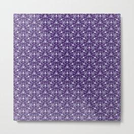 Feminine Energy Deep Purple and Lavender Lines Female Spirit Organic Metal Print