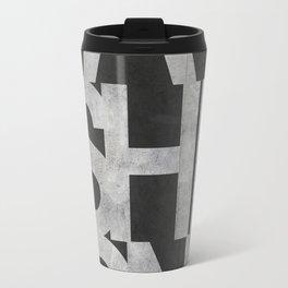FASHION Book Cover Concrete Black Travel Mug