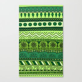 Yzor pattern 003 green Canvas Print