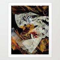 bathroom Art Prints featuring bathroom by meredith w ochoa
