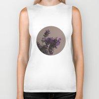 lavender Biker Tanks featuring Lavender by tinaperko