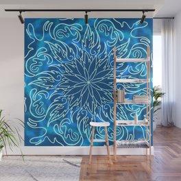 Aqua Flowe Wall Mural