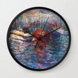 Boats Wall Clock