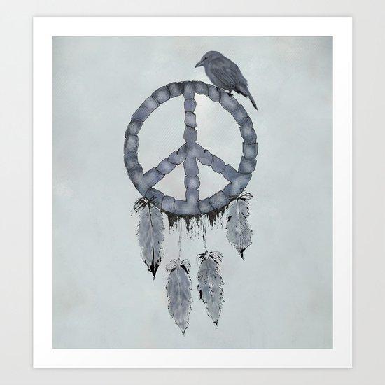 A dreamcatcher for peace Art Print