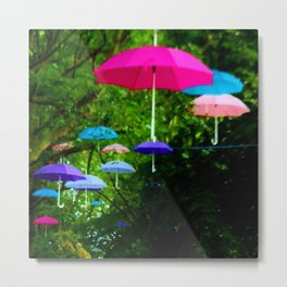 Pink and Blue 96 Metal Print