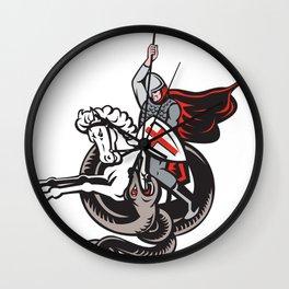 Knight Fighting Snake Wall Clock