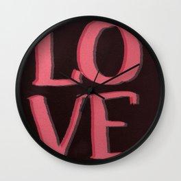 LOVE L.O.V.E Wall Clock