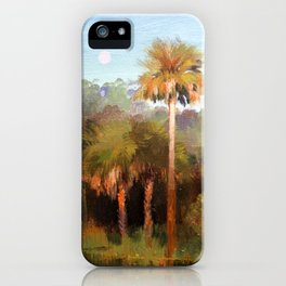 Moonrise over the Palms iPhone Case