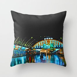 Last Train From Thailand Throw Pillow