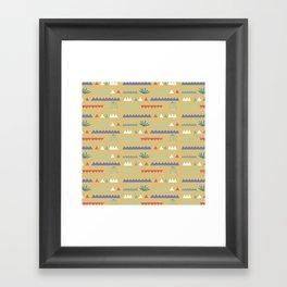 Geometrical Cacti Framed Art Print