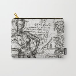 Clone Death - Intaglio / Printmaking Carry-All Pouch