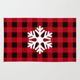 Snowflake - red buffalo check - more colors Rug