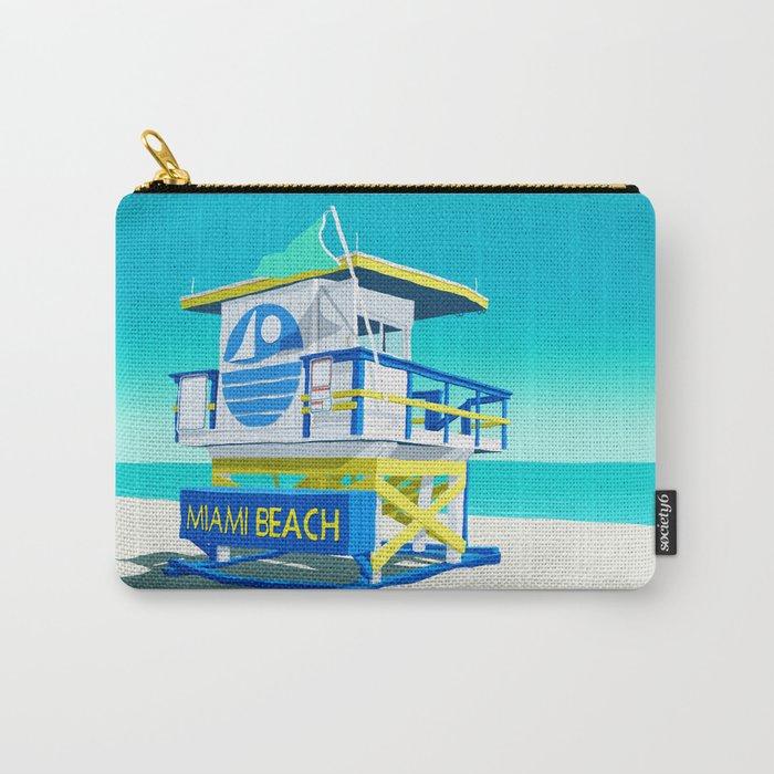 Miami Beach Hut Carry-All Pouch